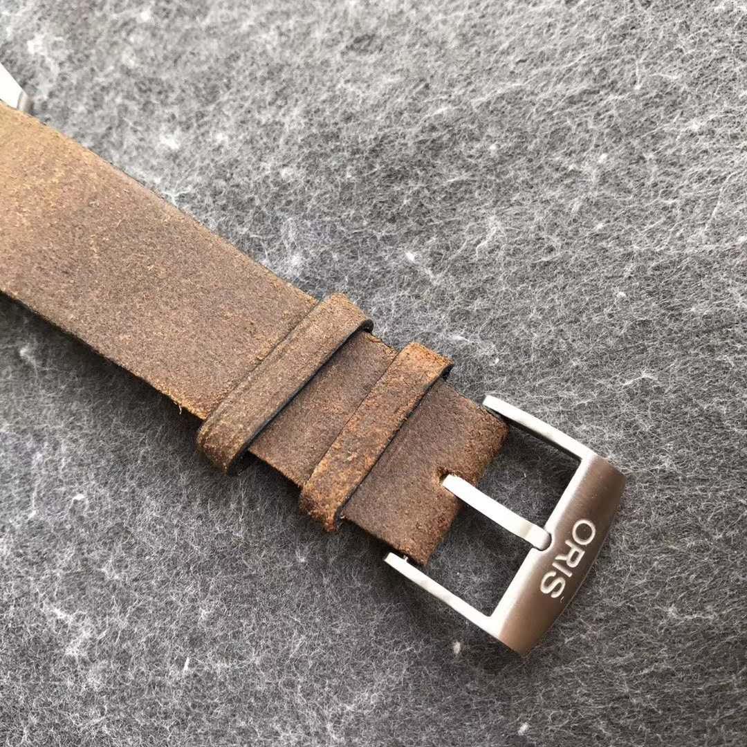 Oris Distressed Leather Strap