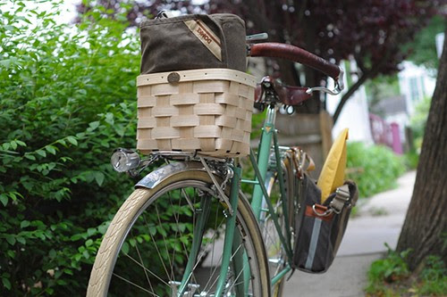 Mixte with Camera Bag, Pannier and Packages