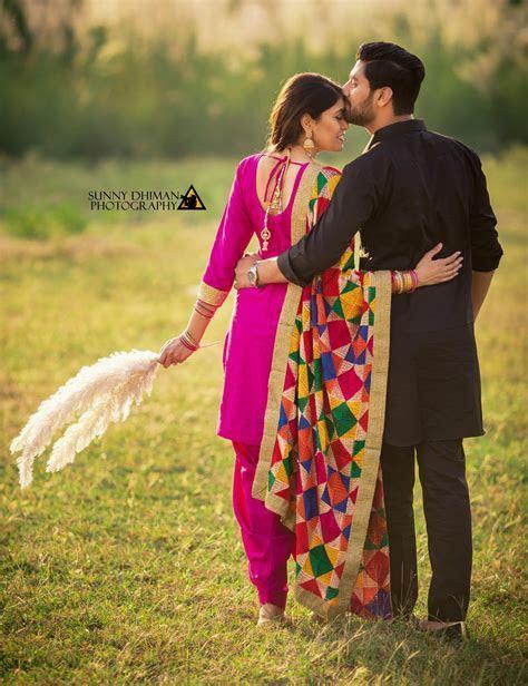 Best pre wedding shoot ethnic phulkari #prewedding #