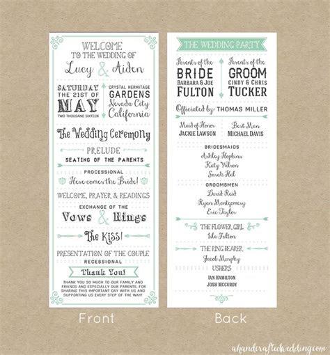 wedding programs simple ideas  pinterest