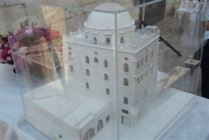 Model of planned synagogue