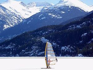 """Zooming across frozen Green Lake near Wh..."
