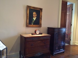 Retrato de Getúlio Vargas em seu quarto no Palácio do Catete (Foto: Marcelo Elizardo/G1)
