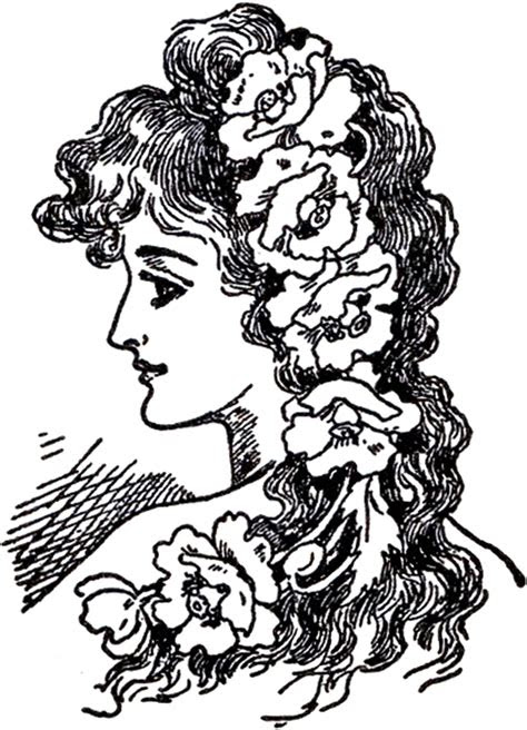 art nouveau lady images  graphics fairy