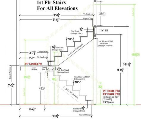 TYPICAL residential STAIR PLAN DRAWING   Google Search
