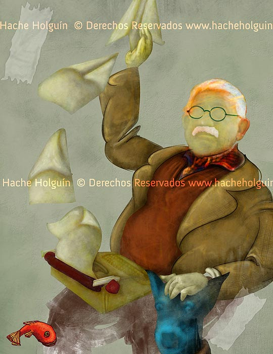 Jairo Aníbal Niño. Ilustración de Hache Holguín.