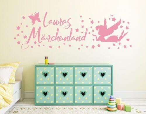 Wandtattoos Wandbilder Wandtattoo Name Kinderzimmer Madchen Fee Sterne Marchenland Wunschname Pkm133 Mobel Wohnen Anakui Com