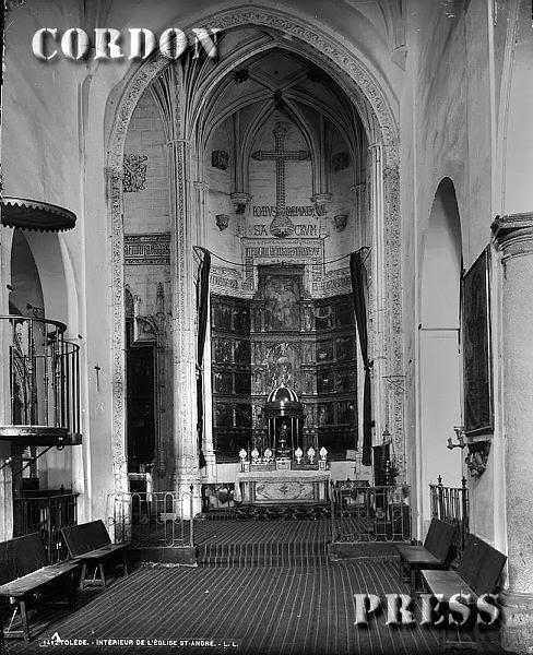 Iglesia de San Andrés de Toledo hacia 1875-80. © Léon et Lévy / Cordon Press - Roger-Viollet