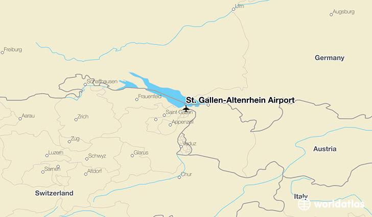 St Gallen Altenrhein Airport Ach Worldatlas