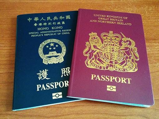 Hong Kong British National Overseas and HKSAR Passports