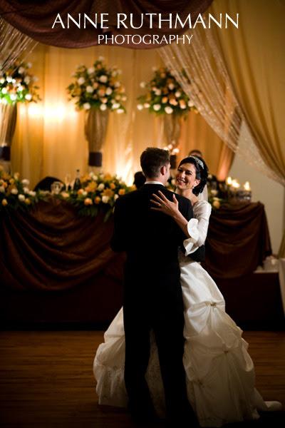 First Wedding Dance, Elegant Reception Decor w/ lush flowers