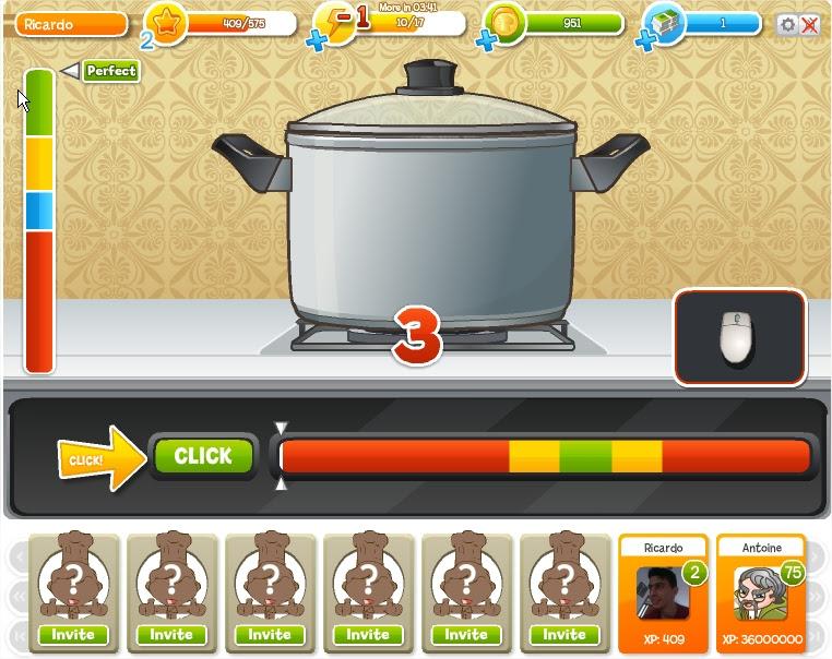 Como jogar Chef Quest do Facebook