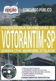 Apostila Concurso Prefeitura de Votorantim 2017 | GUARDA CIVIL MUNICIPAL 2ª CLASSE