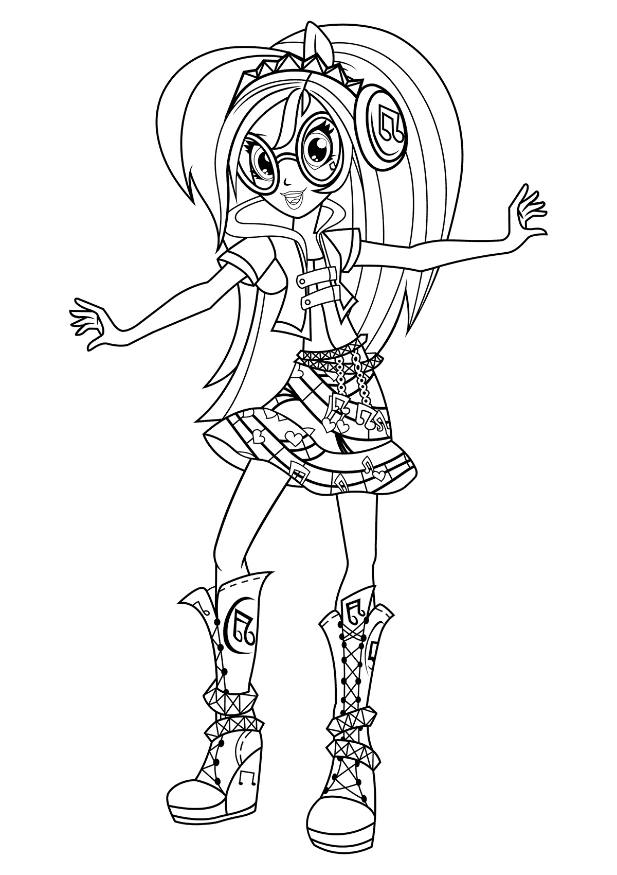 460 Top Coloring Pages My Little Pony Equestria Girl  Images
