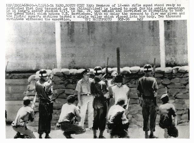 Da Nang 1965 - Rifle Squad Stands Ready for Execution of Terrorist Le Dua