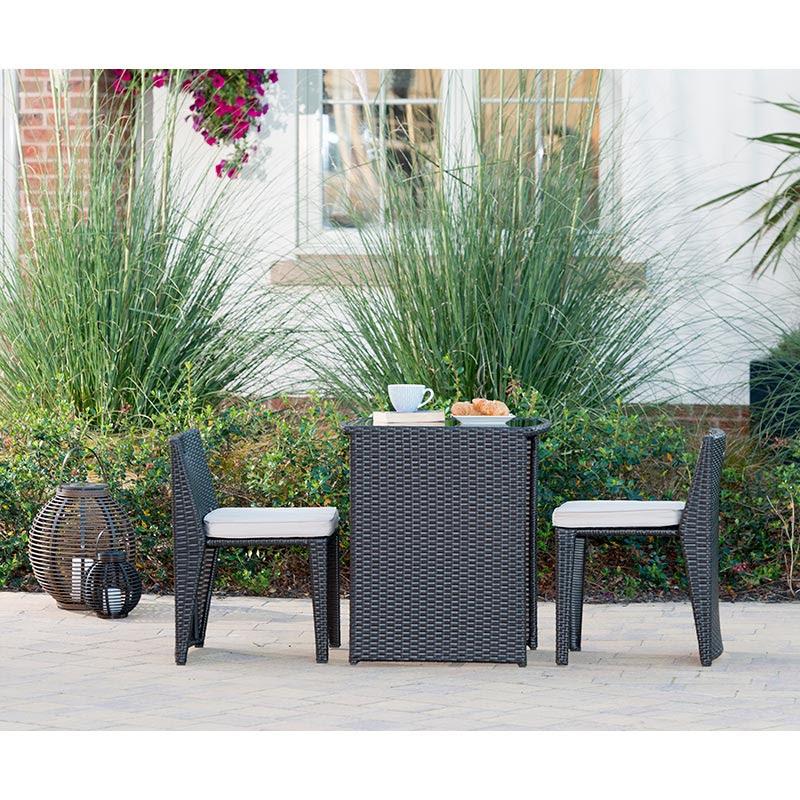 Venice Compact Bistro Set   Garden Furniture - B&M
