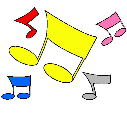 Dibujo De Notas Musicales Pintado Por Rizos En Dibujosnet El Día 27