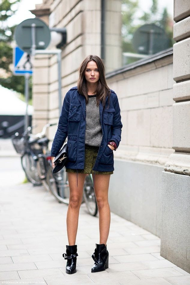 Le Fashion Blog Columbine Smille Spring Layers Layered Blue Utility Jacket Sweater Skirt Patent Ankle Boots Via Stockholm Streetstyle photo Le-Fashion-Blog-Columbine-Smille-Spring-Layers-Layered-Blue-Utility-Jacket-Sweater-Skirt-Patent-Ankle-Boots-Via-Stockholm-Streetstyle.jpg
