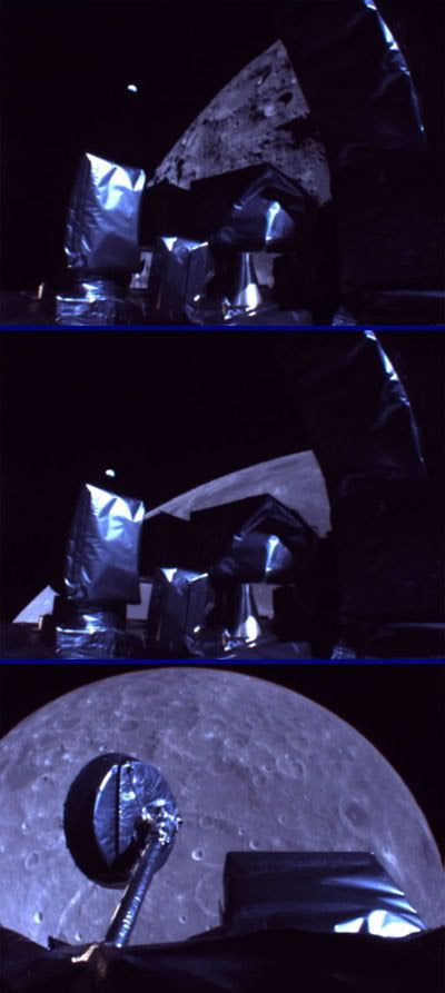 Kaguya lunar images montage