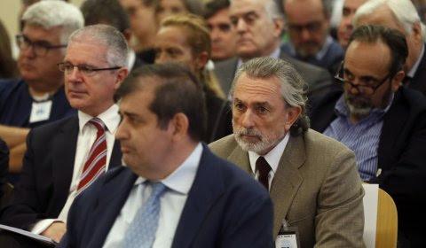 Francisco Correa, líder de la trama Gürtel, en el juicio de la trama. EFE