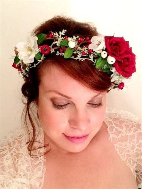 Christmas Flower Crown, Flower Crown, Christmas, Crown