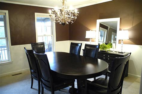 chocolate brown dining room living rich