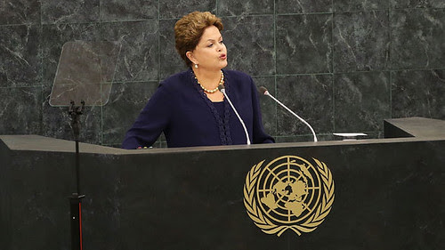 President of the Republic of Brazil Dilma Rousseff addressing the United Nations General Assembly on September 24, 2013. She criticized the United States for spying on her country. by Pan-African News Wire File Photos