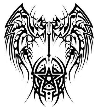 Tattoo Tribal Angel Wing Design Pictures Wwwpicturesbosscom