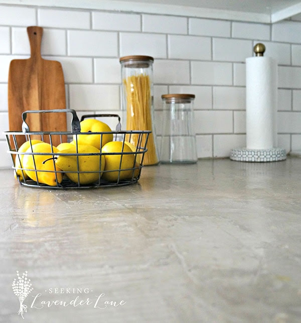 DIY concrete-look countertops... beautiful and affordable! seekinglavenderlane.com