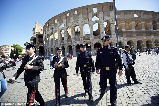 The officers will share information with Italian police and help Chinese tourists if they need to contact local authorities and diplomats