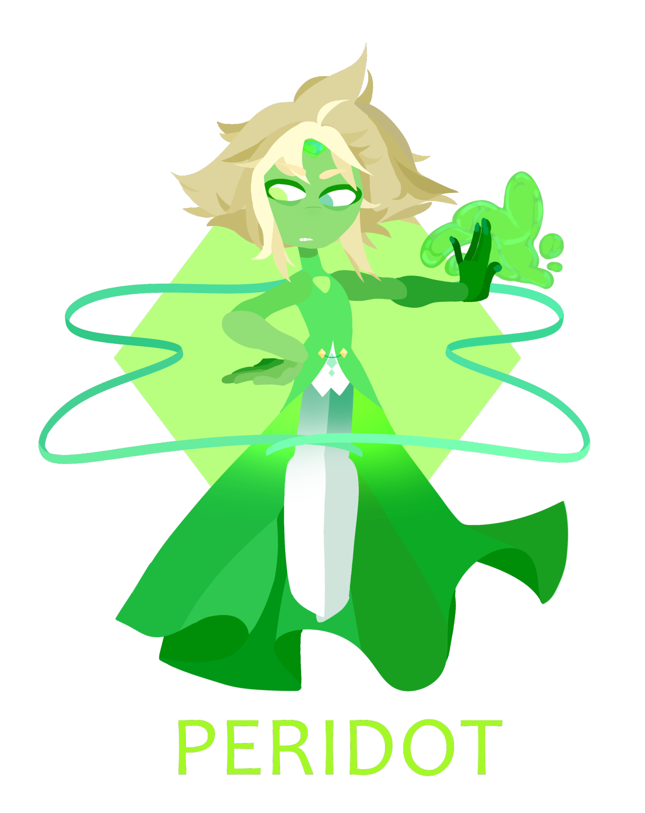 PERIDOMINATOR!!!!!! a followup for my lapis godzuli from my betrayal au!! she's slightly less detailed than lapis but Peridot Isn't As Versatile I'm Sorry