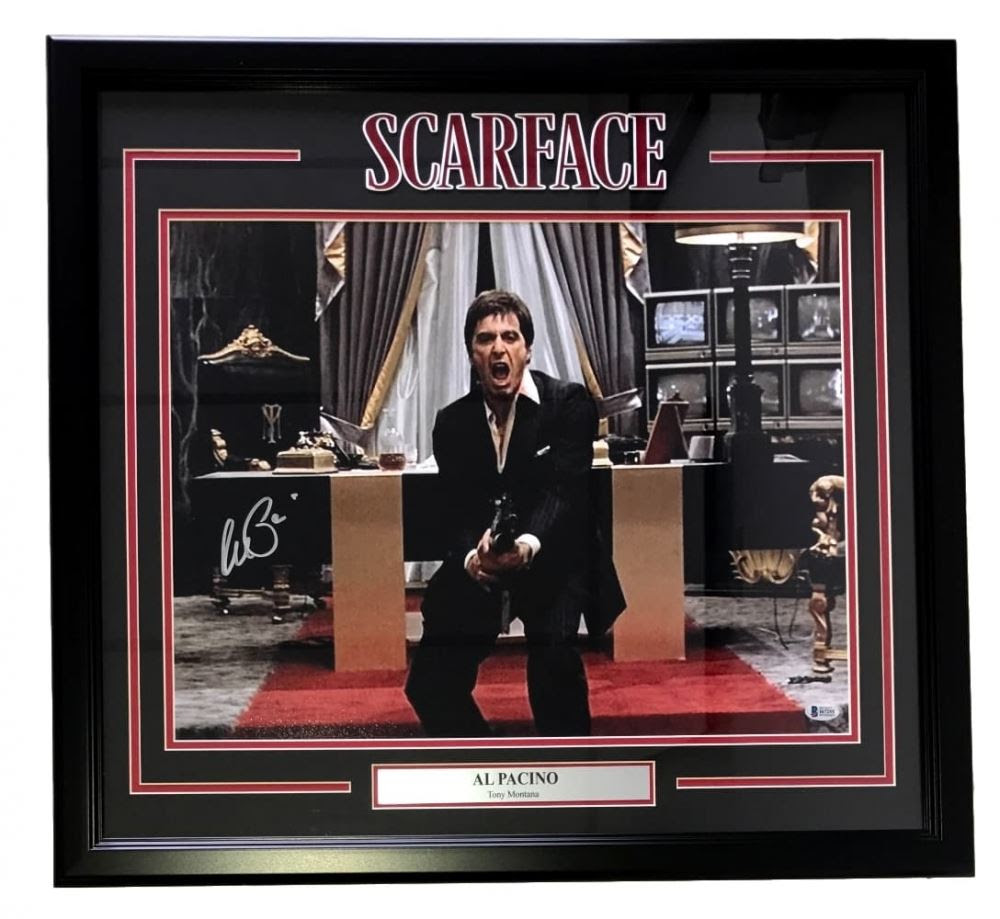 Al Pacino Signed Scarface Say Hello To My Little Friend 22 X 27