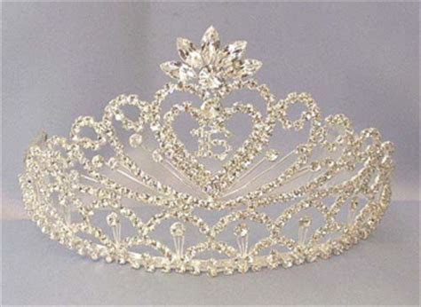Quinceanera Crystal Spray Tiara in Silver