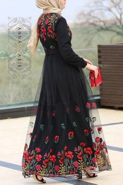 model baju gamis sifon motif kembang model baju muslimah
