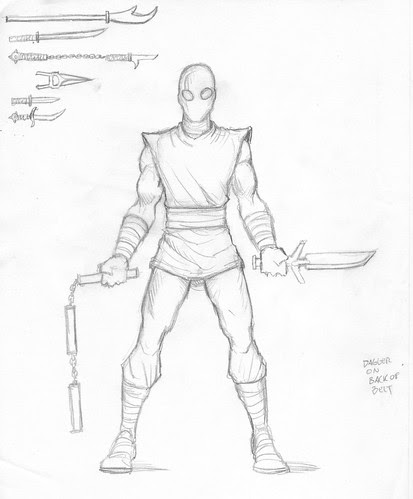 NECA TMNT // Foot Soldier draft design [[ courtesy of Steve Murphy ]]