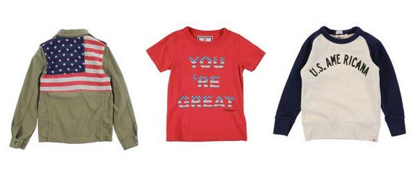Giubbotto, t-shirt e felpa dallo stile USA per bambino firmati American Outfitters