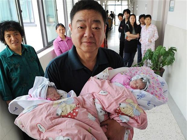 Bebê china gêmeos 2