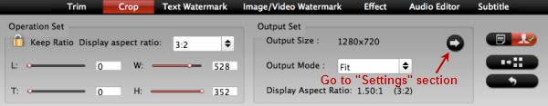 Adjust output video aspect ratio