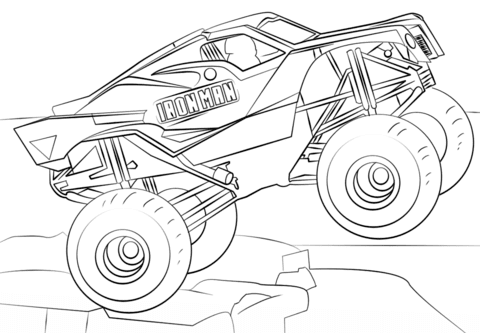 Disegno Di Iron Man Monster Truck Da Colorare Disegni Da Colorare