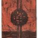 Between earth and sky01,(7-50),複合媒材,16×22cm,1999
