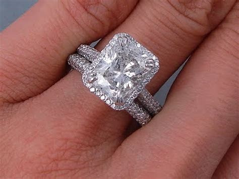 3.73 ctw Radiant Cut Diamond Engagement Ring and Wedding