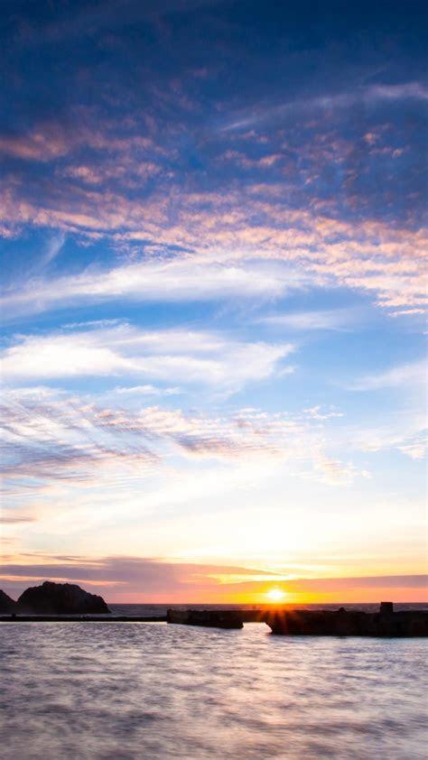 landscape sea sun sky   wallpaper.sc SmartPhone
