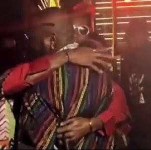Exciting Moment Laycon Met Davido (Video)