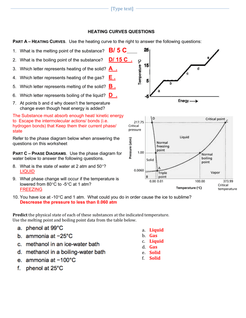 worksheet. Heating Curve Worksheet Answers. Grass Fedjp Worksheet Study Site