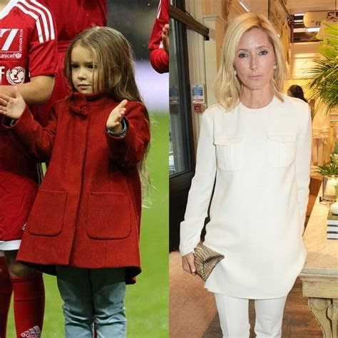 Harper Beckham wears a coat designed by Princess Marie