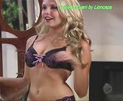 Louise Dtuani sensual em lingerie na novela Ribeirão do Tempo