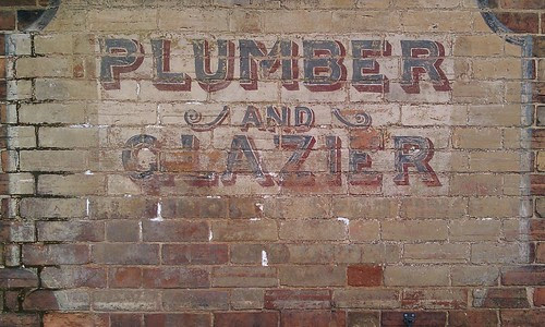 Plumber and glazer sign