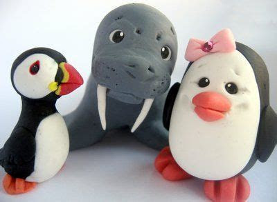 Puffin, Penguin, Walrus   animal: seal, sea lion, walrus