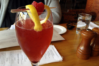 Corners Tavern - Blue berry mimosa