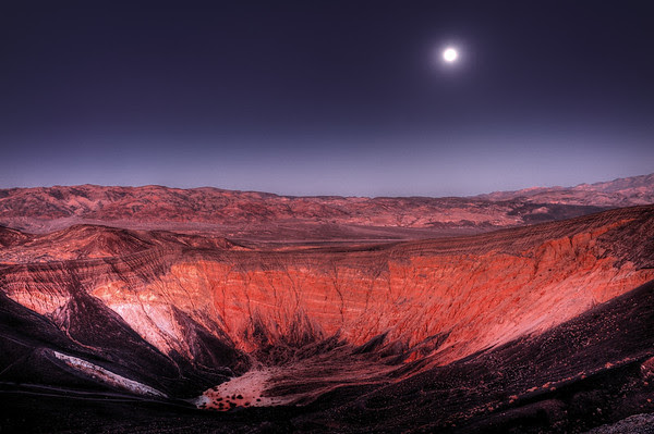 Moonrise over Ubehebe Crater